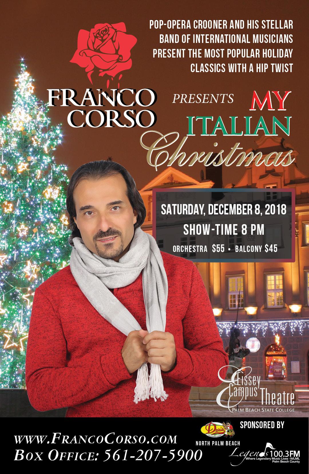 Italian Christmas Music.My Italian Christmas Franco Corso The Voice Of Romance